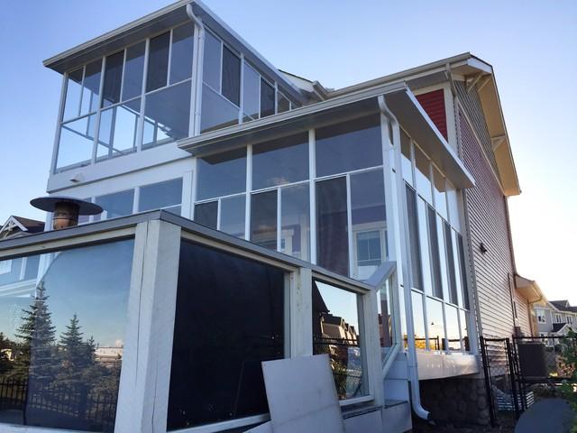 Sunrooms for Piani di casa con portici schermati e sunrooms