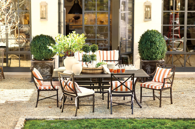 Enjoyable Suzanne Kasler Directoire Outdoor Dining Traditional Inzonedesignstudio Interior Chair Design Inzonedesignstudiocom