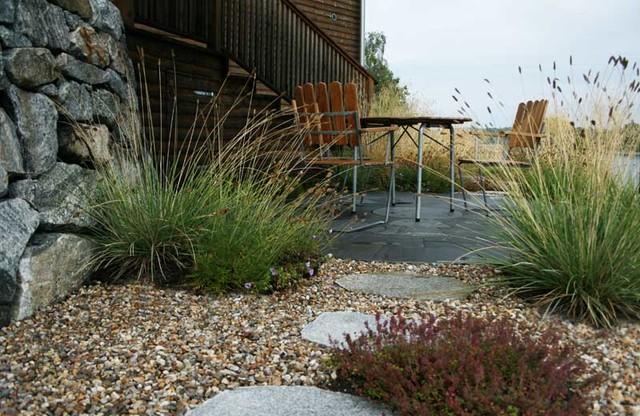 Swedish Coastal Garden Modern Patio