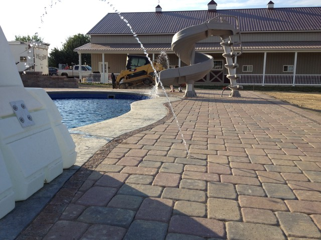 Swimming Pool Paver Patio In Columbus Ohio Contemporary Patio Cincinnati By Two