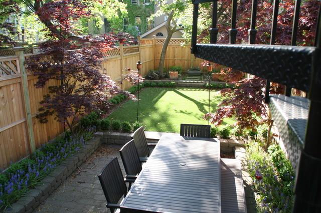SynLawn grass in shady backyard traditional-patio