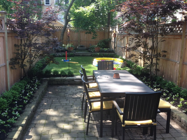 Synlawn grass in shady backyard for Small shady courtyard ideas