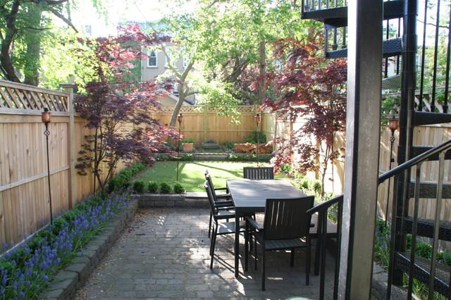 Synlawn grass in shady backyard - Small backyard landscaping ideas ...