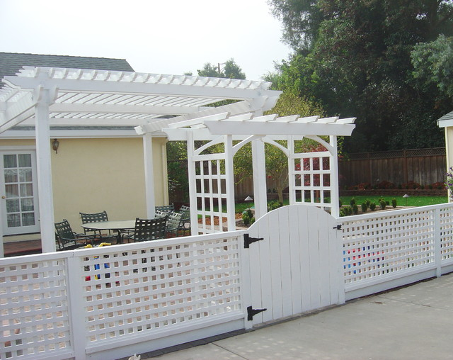T-Arbors and Trellis traditional-patio