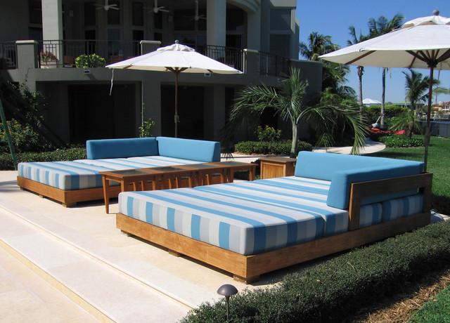 Tahiti Beach Residence Tropical Patio Miami By