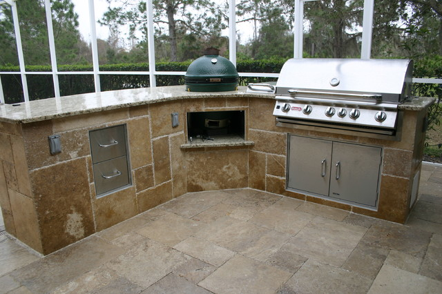 Tampa Outside Kitchen Mediterranean Patio Tampa By Fusion Cabinets Inc