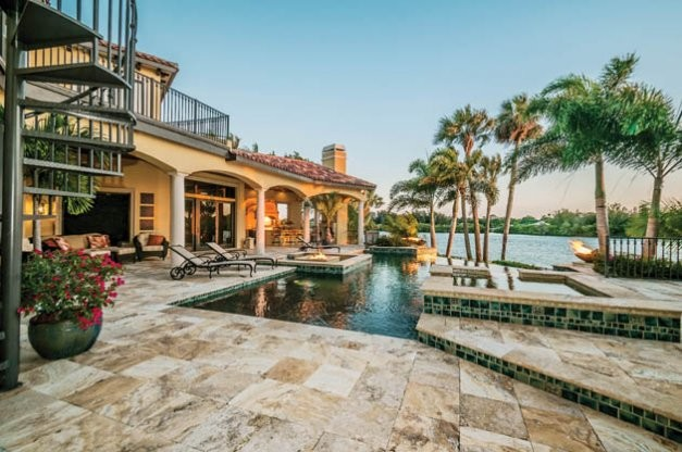 Tarpon Springs Resort-Inspired Home mediterranean-patio