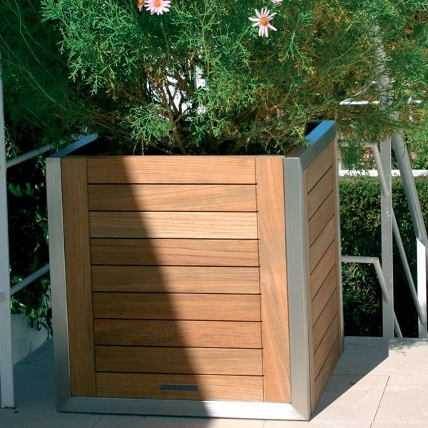 Table Lamps With Rectangular Shades Teak Planter Box - Outdoor Pots And Planters - chicago - by Home ...