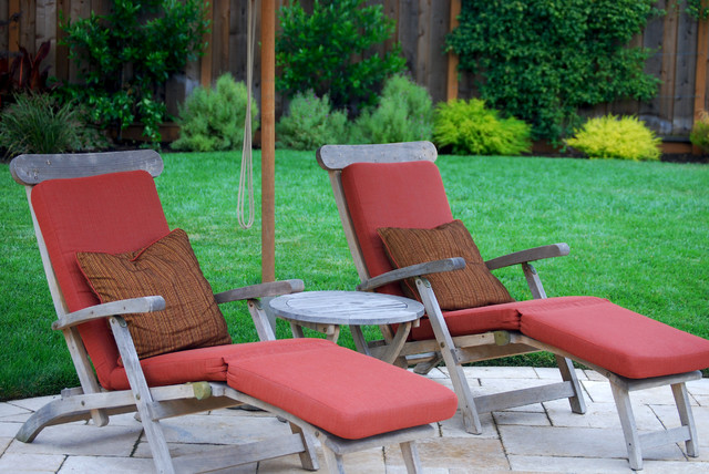 Teak Steamer Lounge Cushions Rustic Patio Other By