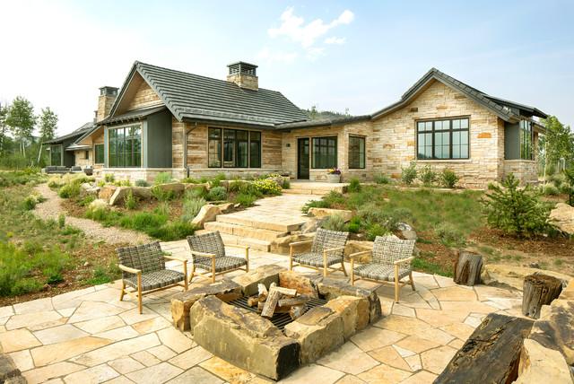 Terra Firma Landscaping Rustic Patio Denver By Terra Firma Custom Homes Houzz Ie
