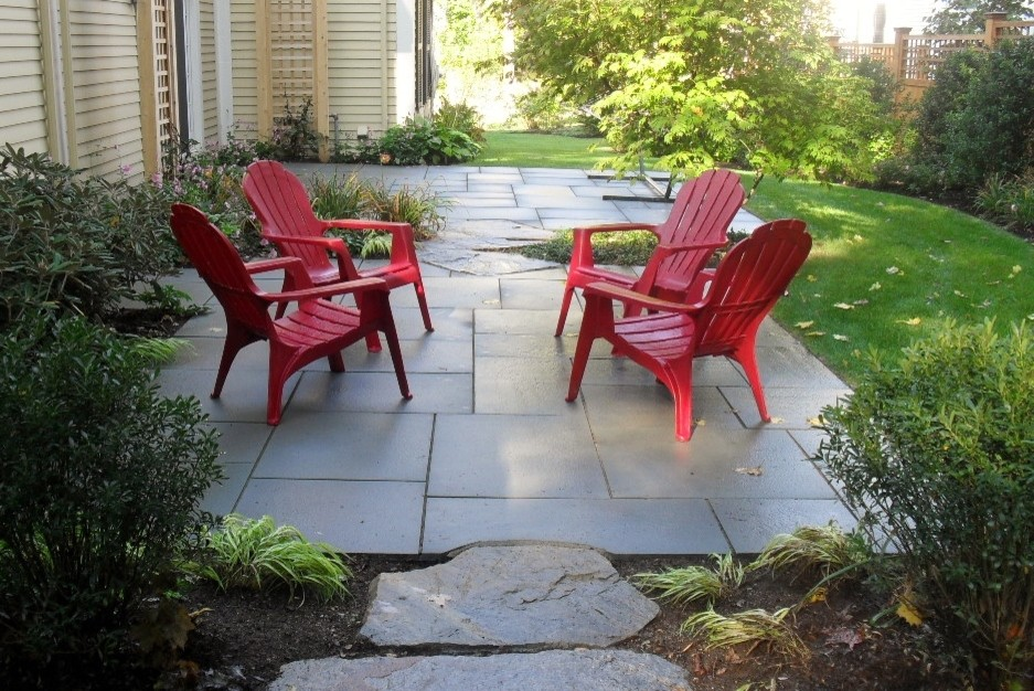 Inspiration for an eclectic patio remodel in Boston
