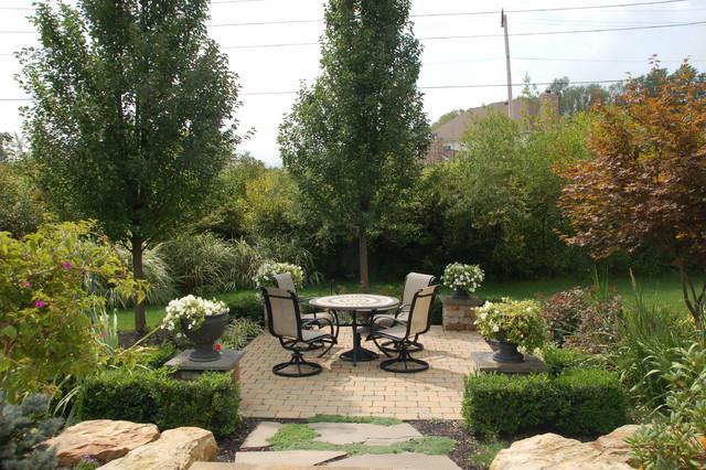 Terraced Garden Patio traditional-patio