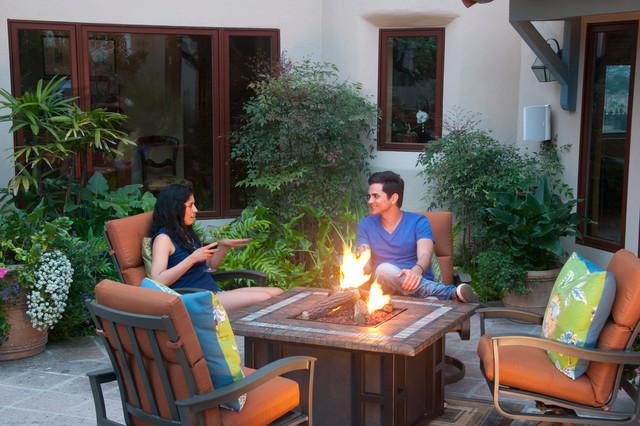 Terracotta Fire Pit contemporary-patio