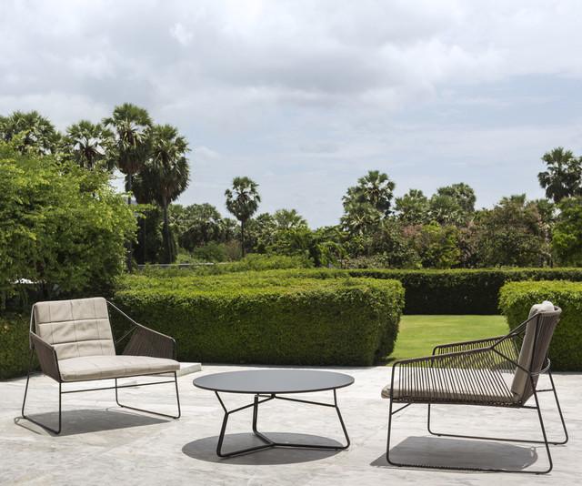 terrassen lounge sessel aus edelstahl modern patio essen von livarea. Black Bedroom Furniture Sets. Home Design Ideas