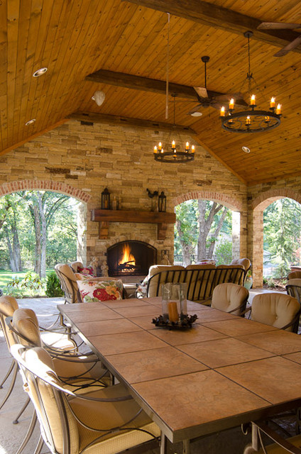 Texas hill country style traditional patio oklahoma for Texas decorations for the home