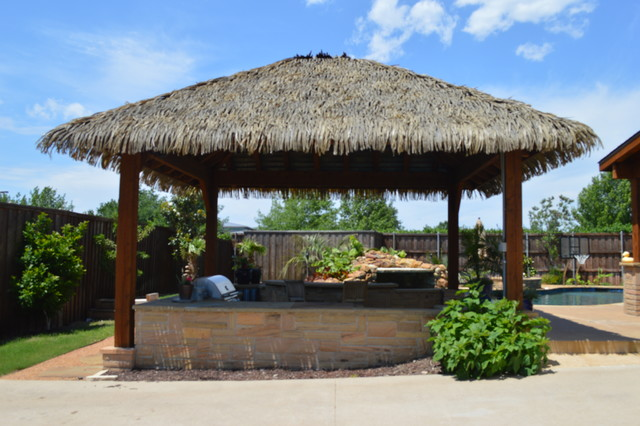 Outdoor Roof thatch roofs and outdoor living - tropical - patio - dallas -
