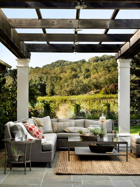 The Barbara Barry Outdoor Collection traditional patio