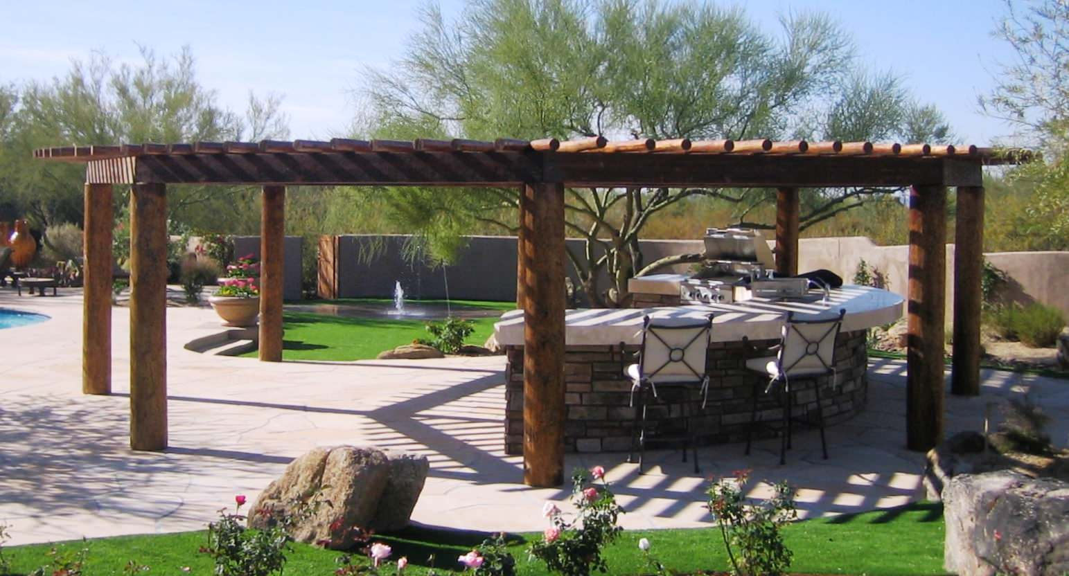 The Boulders--Shade Structure