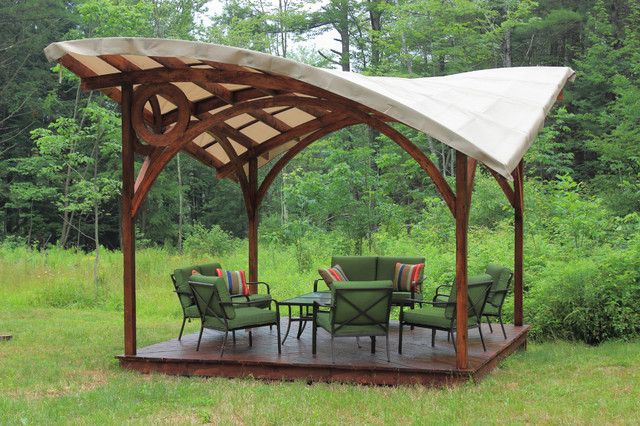 The Butterfly Pergola Contemporary Patio New York