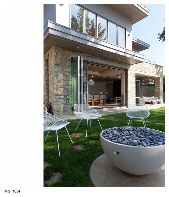 """The """"Cabin"""" on the Lake contemporary-patio"""