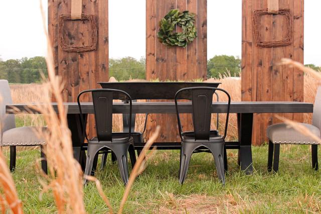 Elijah Patio Furniture.The Elijah Table Rustic Patio Other By Anvil Oak