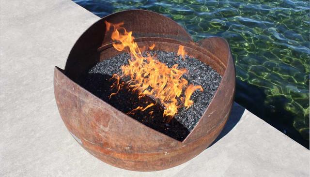 The Firefly 37 inch Sculptural Firebowl modern-fire-pits