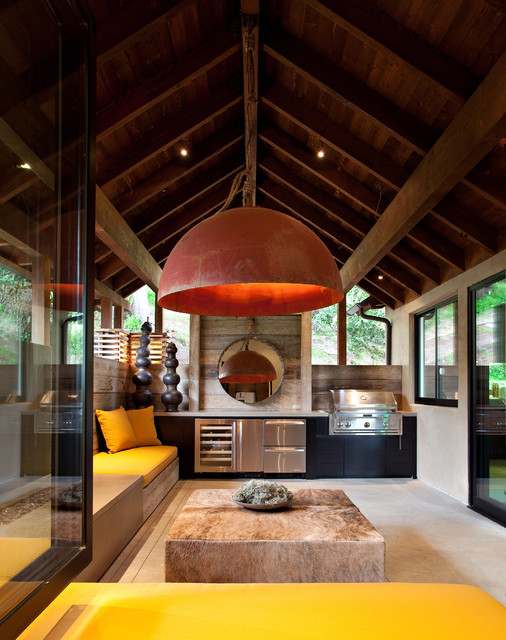 The Hillside House contemporary-patio