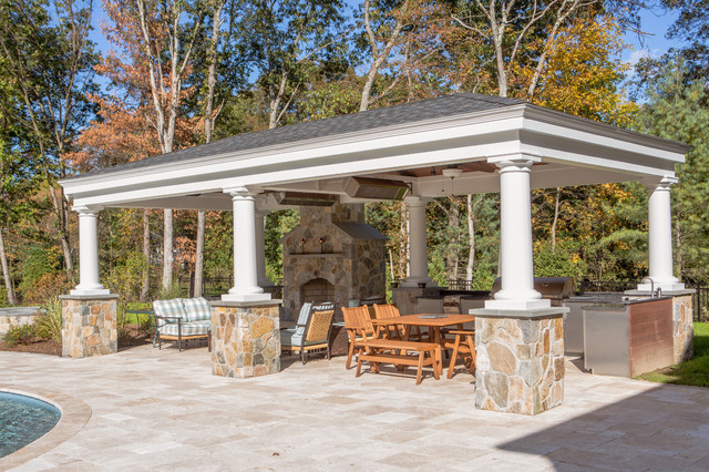 The modern new england home traditional patio boston for Modern new england homes