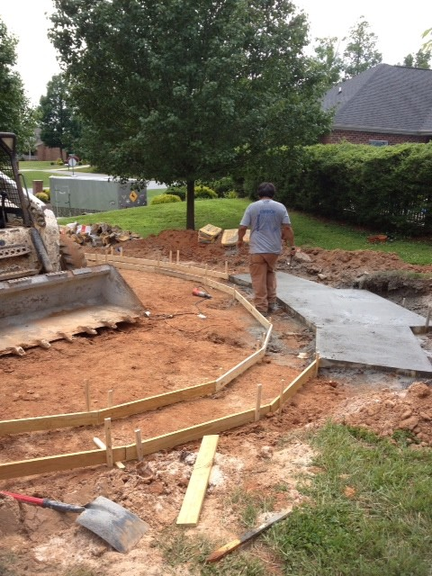 The Morrison Family Wood Fired Brick Pizza Oven & Fireplace in North Carolina traditional-patio