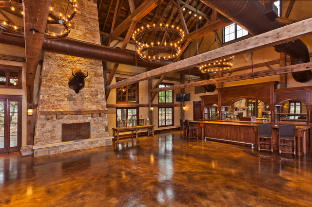 The Party Barn Branded T Ranch Rustic Other Metro on Rustic Barn House Design