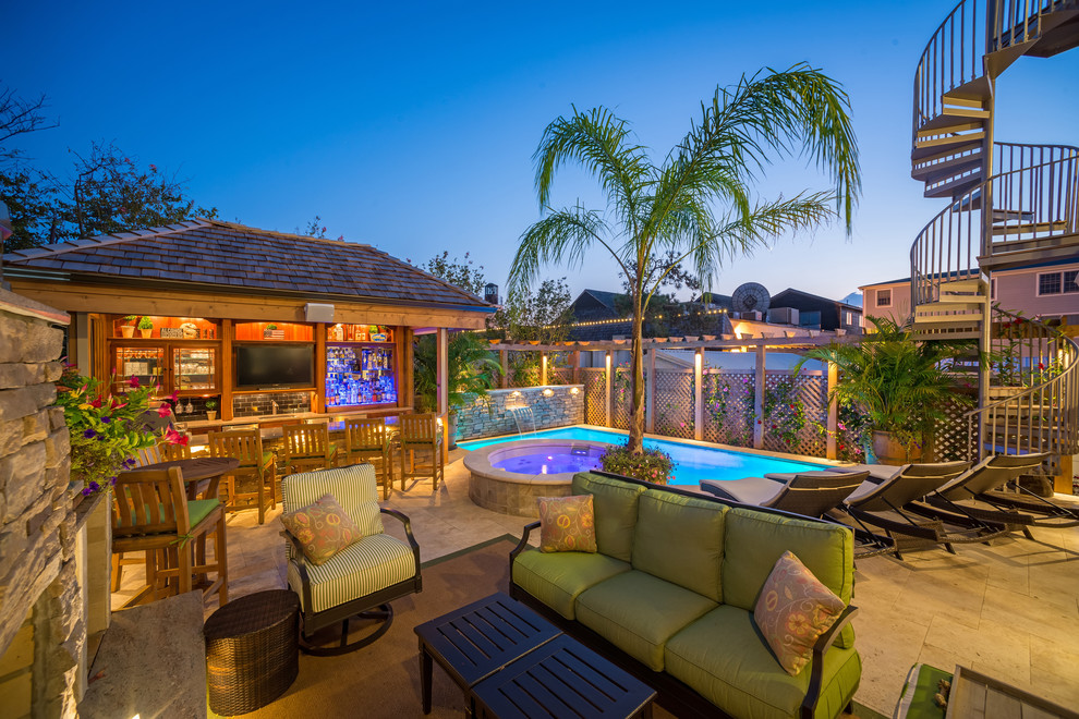 Example of a beach style patio design in Other
