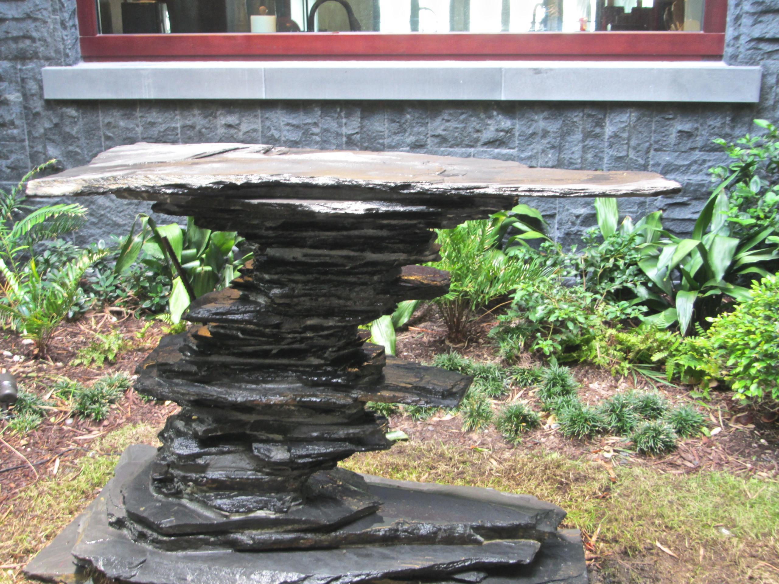 The Stone Bonsai Table Asian Patio Miami By Matthew Giampietro Garden Design Houzz