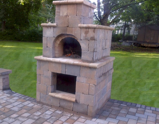 The Terpstra Family Wood Fired Brick Pizza Oven Tower In Nj Traditional Patio Newark By