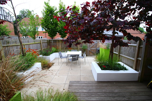 The Watts Garden - Modern - Patio - South East - By Landscape Design By James Brunton-Smith Limited