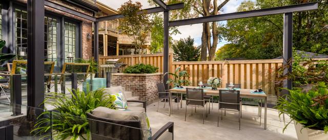 Tiered Contemporary Urban Garden - Contemporary - Patio ... on Tiered Backyard Ideas id=70109