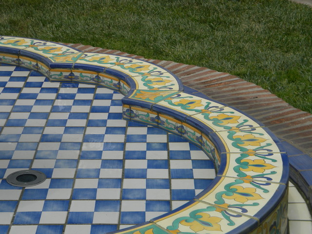 Tiles for Swimming Pools, Fountains and Stairways mediterranean-patio