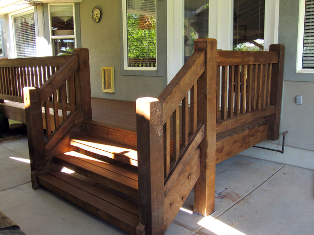 timber frame accents deck