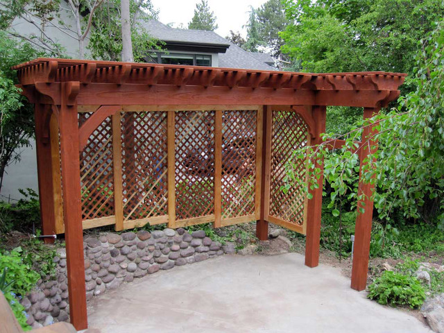 Evans add a privacy trellis rustic patio salt lake for Rustic outdoor privacy screens
