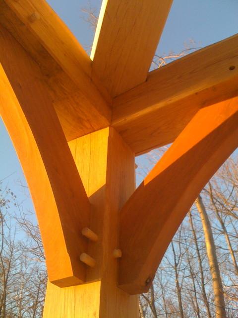 Timber Frame Hip Roof