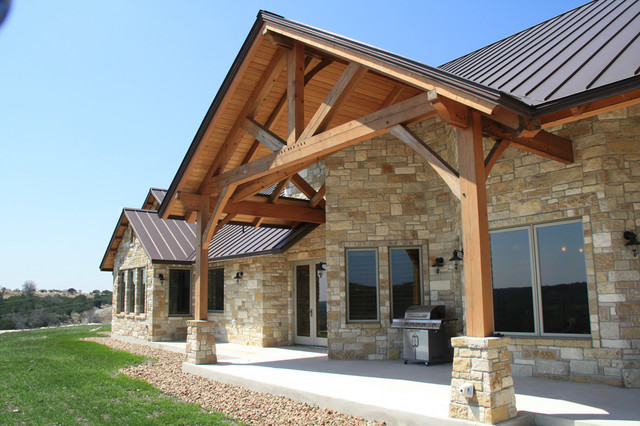 Timber Home traditional-patio