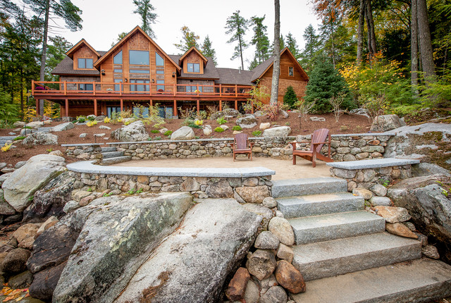 Timberframe Lake House Rustic Patio Manchester By