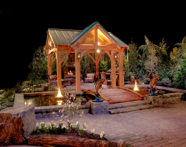 Timberline Pavilion Kit Traditional Patio Portland
