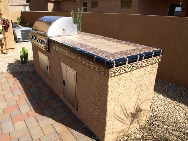 Time to barbeque mediterranean patio phoenix by - Mexican style patio design ...