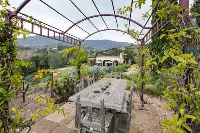 Toro Canyon Tuscan Style Pool and Landscape | Santa Barbara CA mediterranean-patio