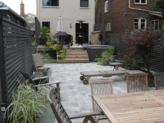 Toronto backyard landscape project contemporary patio for Garden design ideas toronto