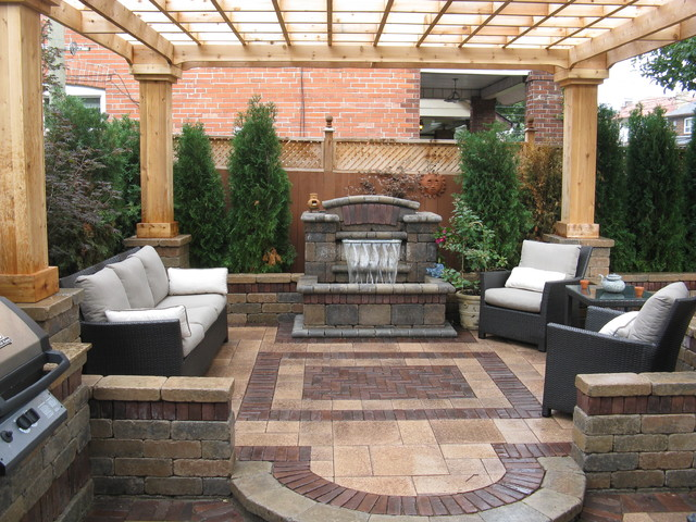 Toronto outdoor living space contemporary patio