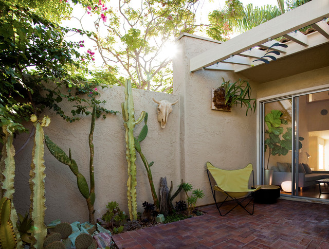townhouse renovation in san diego southwestern patio