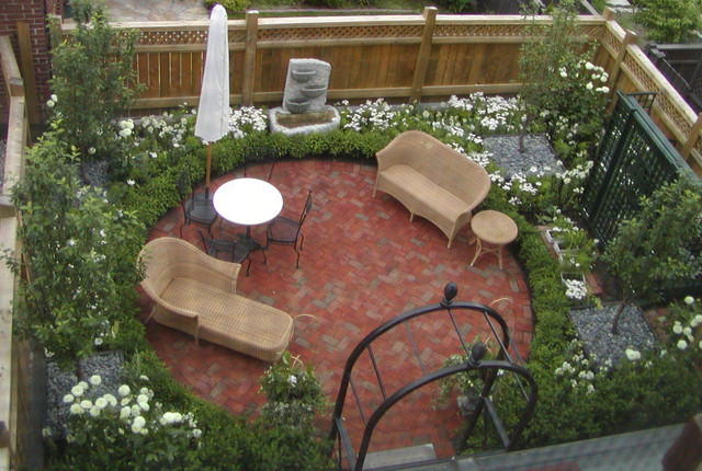 Townhouse Rooftop Traditional Patio New York By Little
