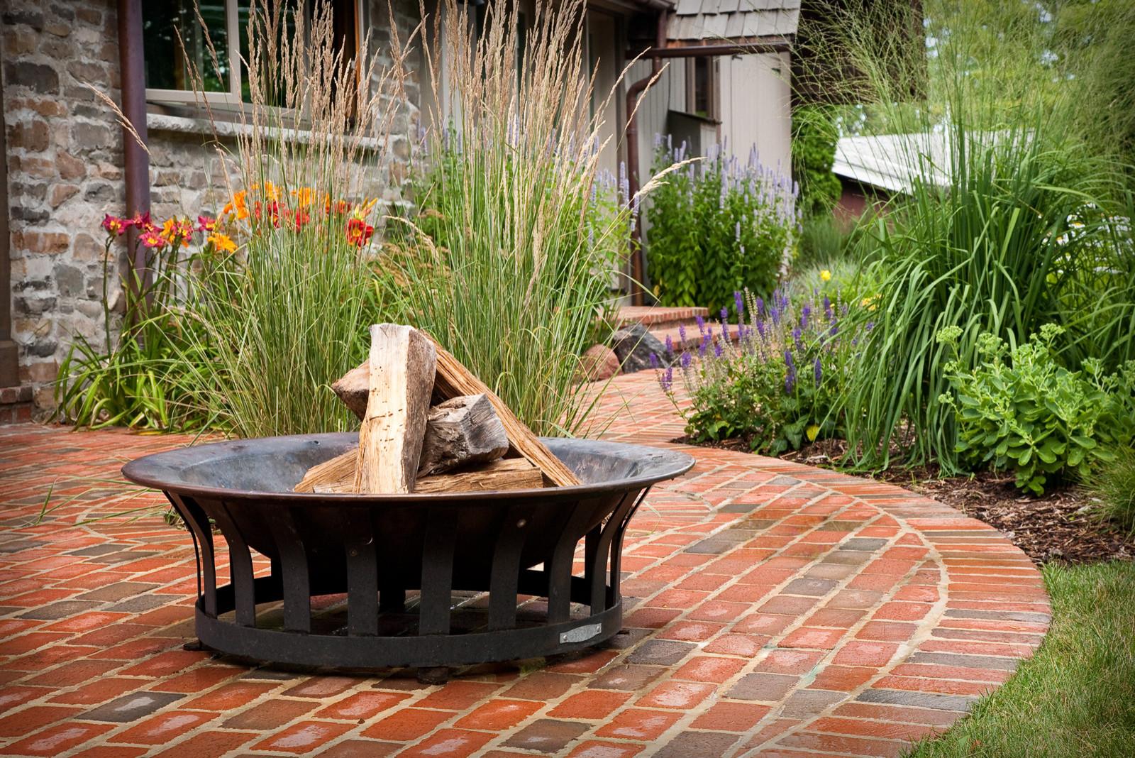 Traditional Metal Fire Bowl - Elm Grove