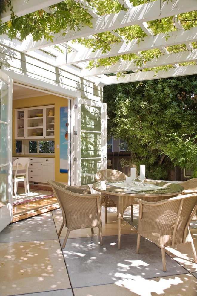 Patio - traditional patio idea in San Francisco with a pergola